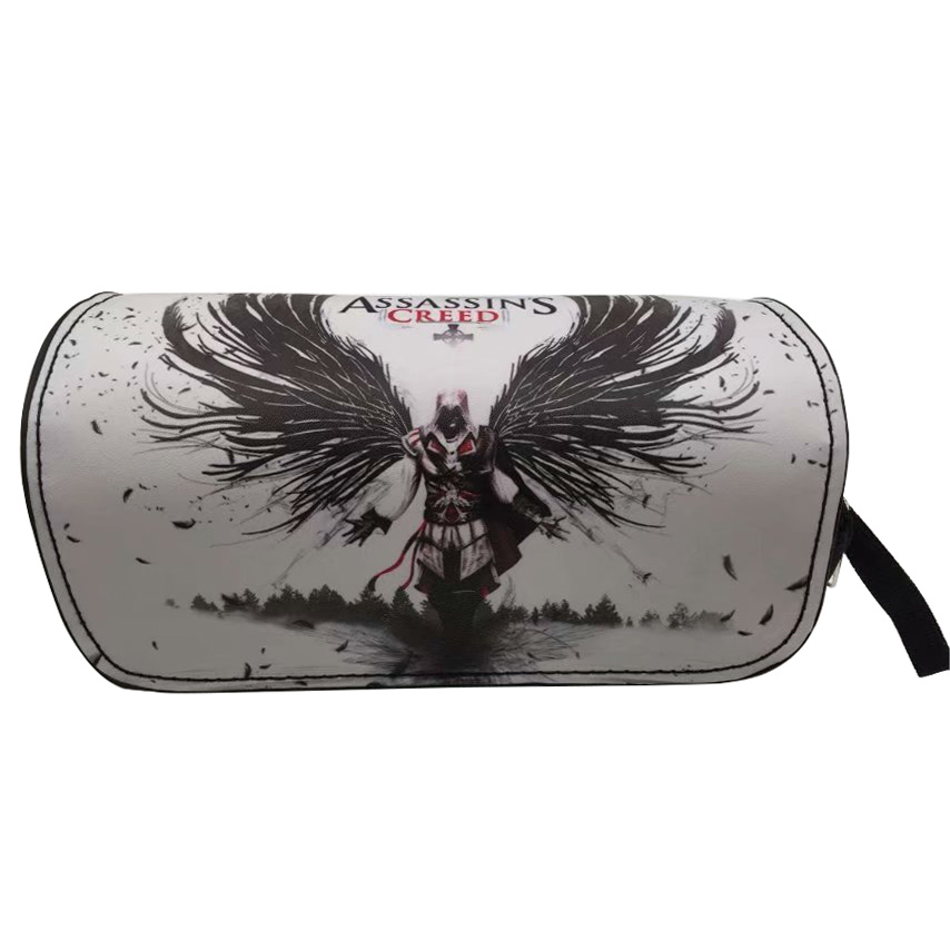 Creative Gift Pencil Cases Anime Style Pen Bags Assassins Creed Game of Thrones Attack on Titans Students Stationery Container