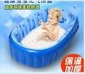 Moda de Alta Calidad Al Por Menor Del Verano Portátil Bebé/Niño/Niño Bañera Inflable Bañera Bebé Recién Nacido Gruesa Verde Tinas