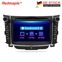 Android 8.0 Car Dvd Stereo radio GPS Multimedia Player For Hyundai i30 Elantra GT 2012 2013 2014 2015 2016 Auto Audio Navigation