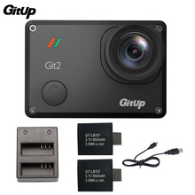 Gitup Git2 Wifi Action Camera 2K Novatek 96660 1080P Full HD Outdoor Sports Camera + 2Pcs 950mAh Battery+ Dual Battery Charger
