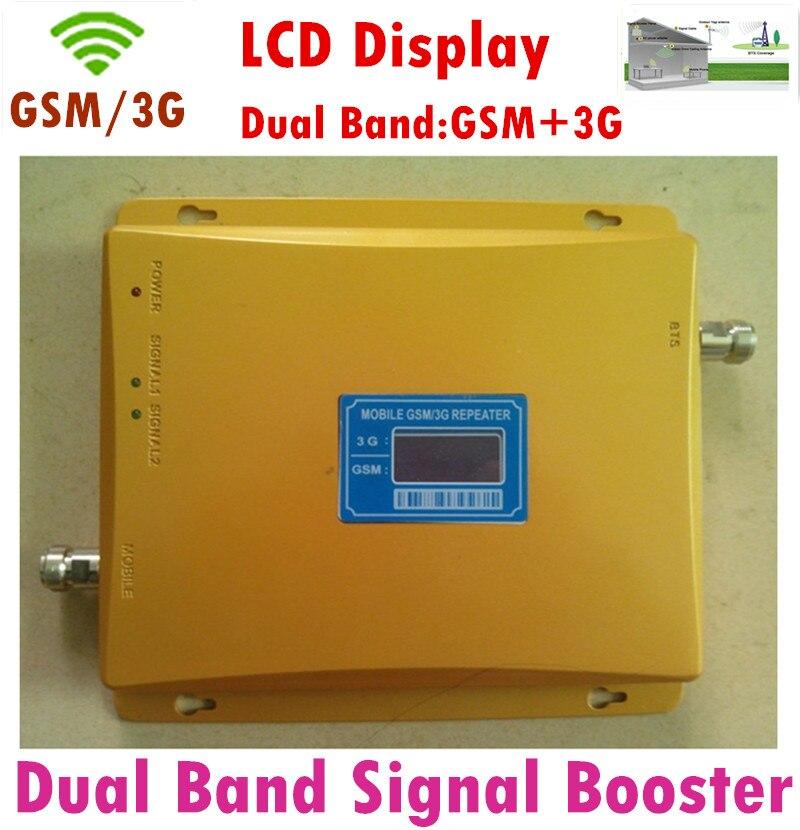 Amplificateur de Signal LCD double bande 2G GSM 3G! Amplificateur de Booster GSM 3G répéteur de Signal de téléphone portable 65dBi 3G