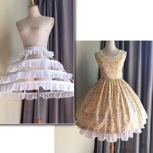Image 3 - JIERUIZE Lolita Short Unique Petticoat Ball Gown Cosplay Underskirt 3 Hoops Ruffle Rockabilly Crinoline Wedding Accessories
