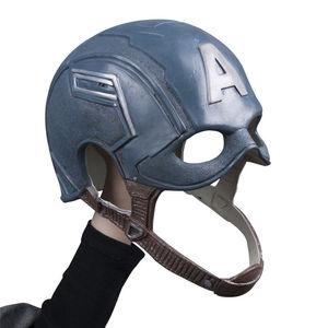 Image 4 - Cosplay Captain America Steven Mask Helmet Halloween Soft Cosplay Latex The Avengers Mask Mask Props