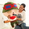 Dorimytrader Горячая 33 '' / 85 см Прекрасный мягкий гигант плюшевые мягкие игрушки LOL Teemo, отличный подарок для детей, бесплатная доставка DY60038