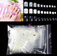 500 Pcs Natural Acrylic False Fake Artificial Toe Nails Tips For Nail Art Decor