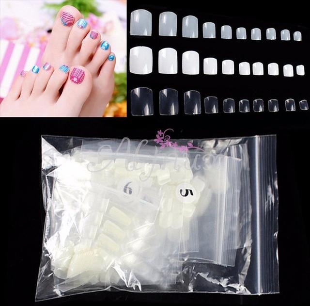 500 Pcs Natural Acrylic False Fake Artificial Toe Nails Tips For