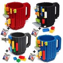 350 мл креативная молочная кружка кофейная чашка креативная сборка-на кирпичной кружке чашки питьевой воды держатель для LEGO строительные блоки дизайн