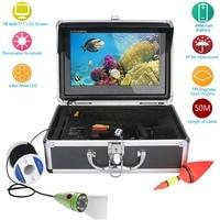 GAMWATER 10 Inch HD 1000tvl Underwater Fishing Video Camera Kit 6pcs 1W White LEDs Lights Video