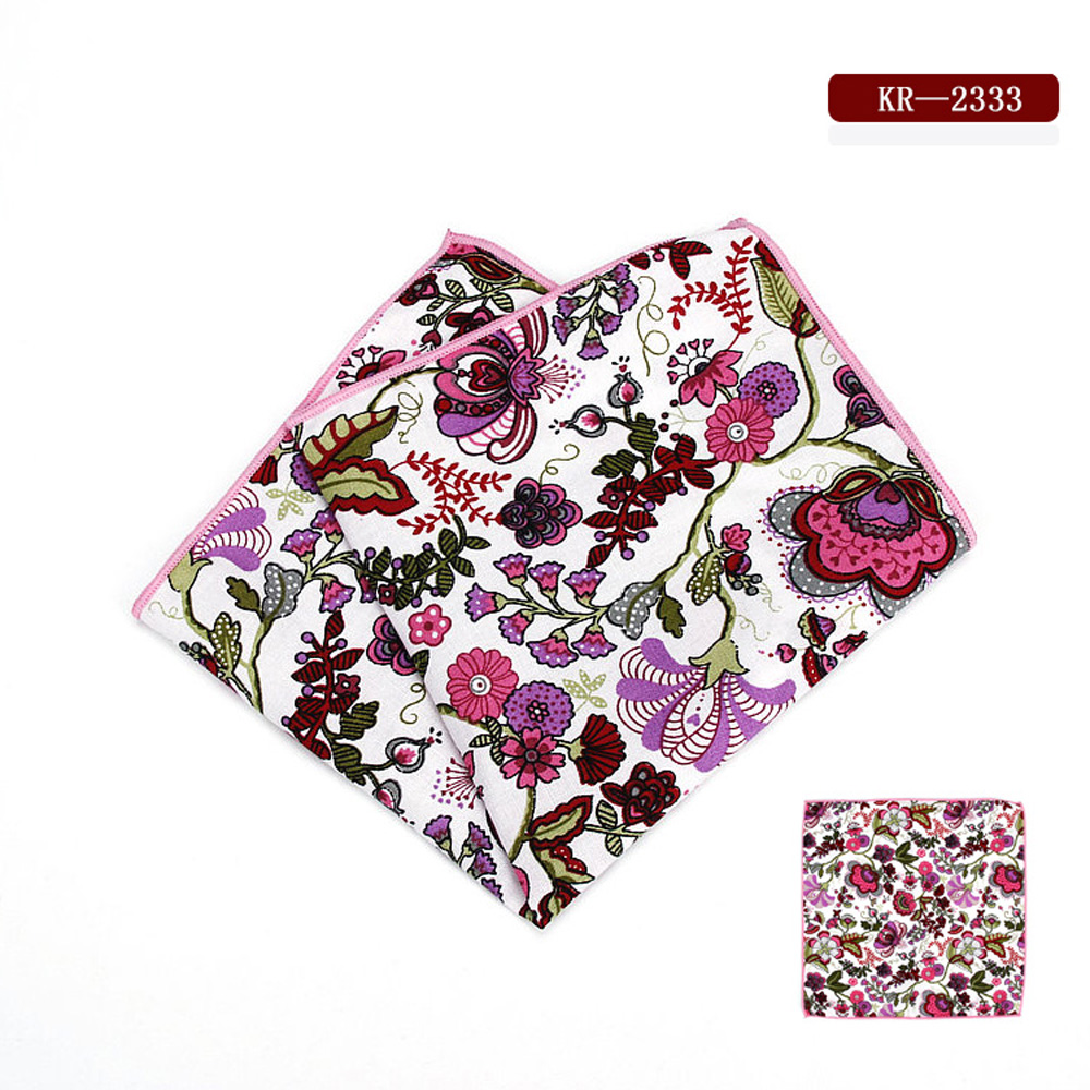 Mens Tuxedo Floral Pocket Square Wedding Party Colorful Flower Handkerchief BWTYF0230