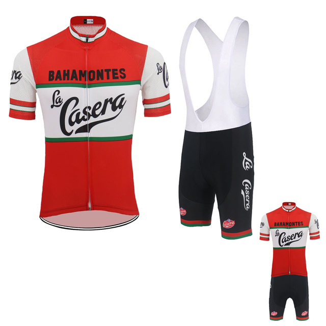 2976e9b9f Summer cycling jersey set ropa Ciclismo bike wear jersey set men red short  sleeve and black bib shorts Gel Pad cycling clothing