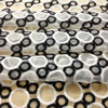 Big Promotion Price High Quality Organza Embroidery Fabric Black And White Circle Breadstuff Wide 125cm
