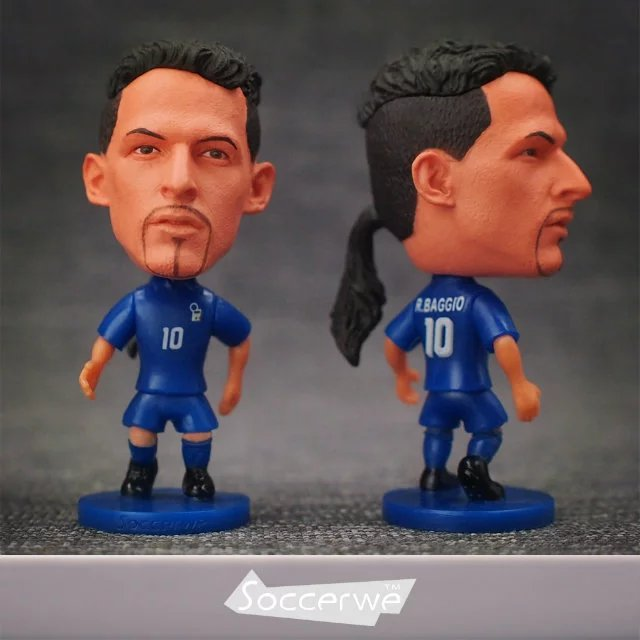 Soccer figurine football stars BAGGIO classic Movable joints resin model toy action figure dolls collectible boyfriend gift