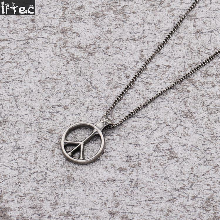 World peace necklace hot sale retro silver pendant simple design world peace necklace hot sale retro silver pendant simple design peace sign necklaces for men and women hip hop jewelry in pendant necklaces from jewelry aloadofball Choice Image