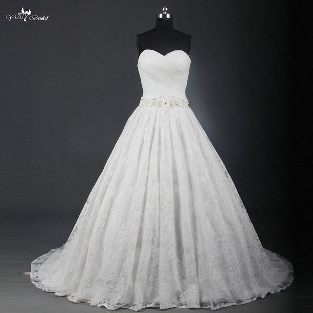 RSW1204 Elegant Sweetheart Neckline Ball Gown Wedding Dress Lace ...