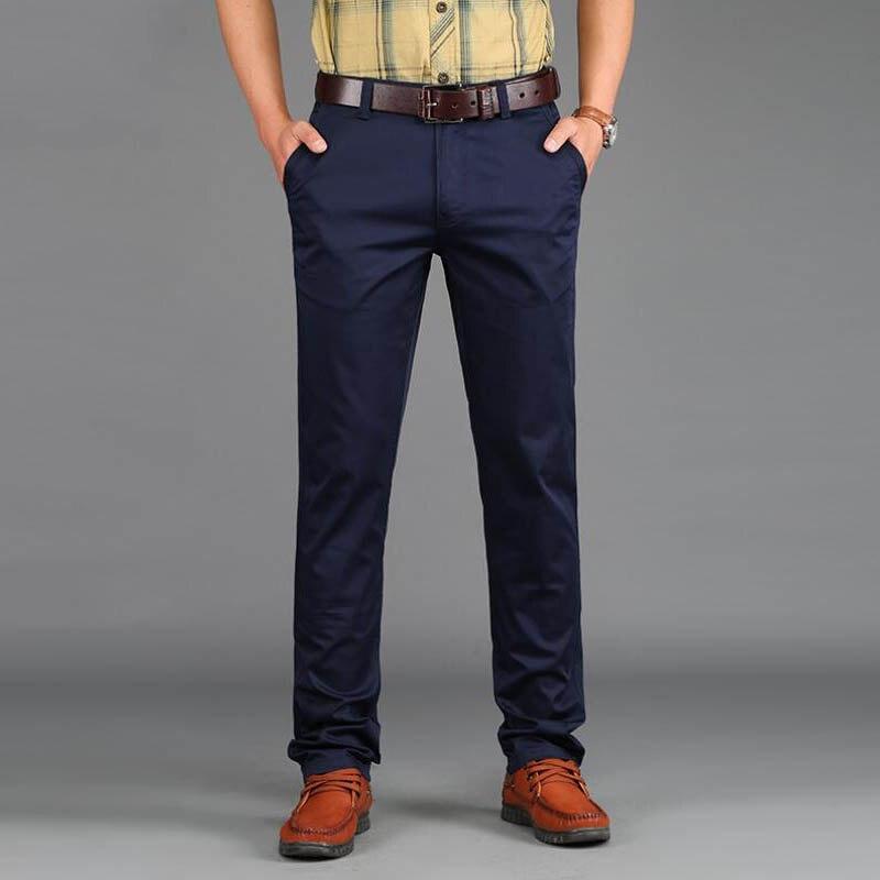 2019 tavaszi alkalmi férfi nadrág vékony nadrág Slim Fit 97% - Férfi ruházat - Fénykép 3