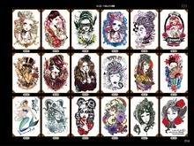 Frauen Männer Tattoo Arm Ärmel Aufkleber Schönheit Porträt Muster temporäre Tattoo Wasser Transfer Slip auf Arm Ärmel Kit Kunst Körper