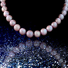 MADALENA SARARA AAA High Quality Natural Purple Pearl Necklace Strand 11mm Fine Luster Brightness Perfect Round 18