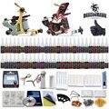 Mejores Ventas de Kit de Tatuaje 2 Ametralladoras 54 Agujas de Suministro de Tinta a Color de Alimentación D100-7