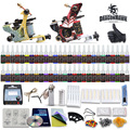 Top Selling Tattoo Kit 2 Machines Guns 54 Color Ink Power Supply Needles Set Equipment D100-7
