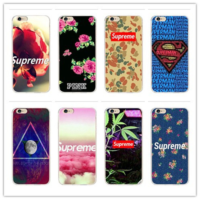 huge selection of 9e874 62cbe US $1.2 |i5/i6/6P for supreme Fashion Phone Cases For iPhone 7 Case Painted  Cover For iphone4 5S 6 6S / Plus New Screen Protector on Aliexpress.com |  ...