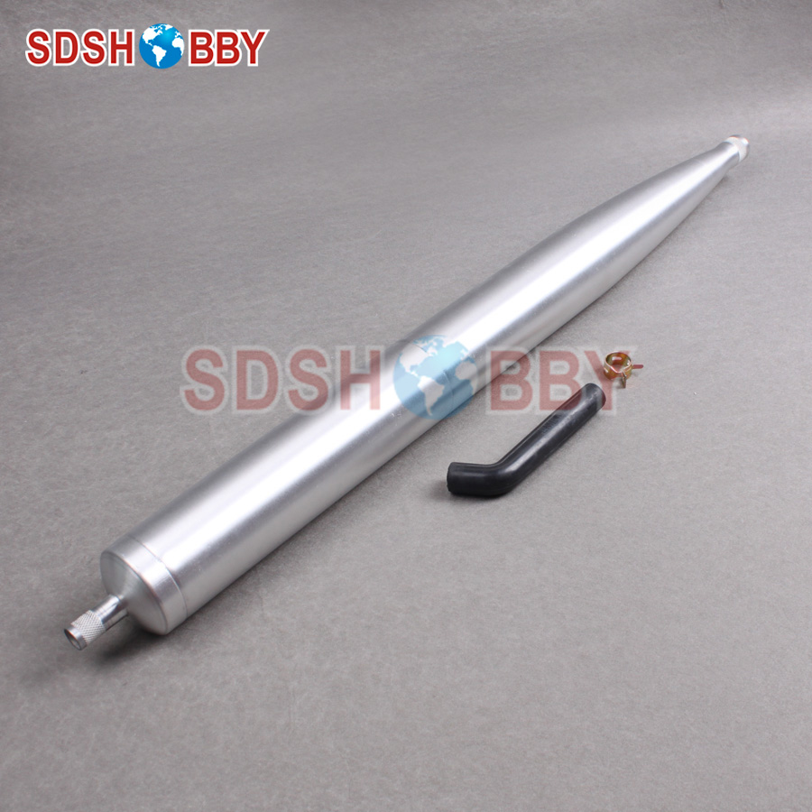 Aluminum Exhaust Pipe Tuned Pipe for 50-60CC Gas Engine Compatible with DL55 DL111 DA60 DA50