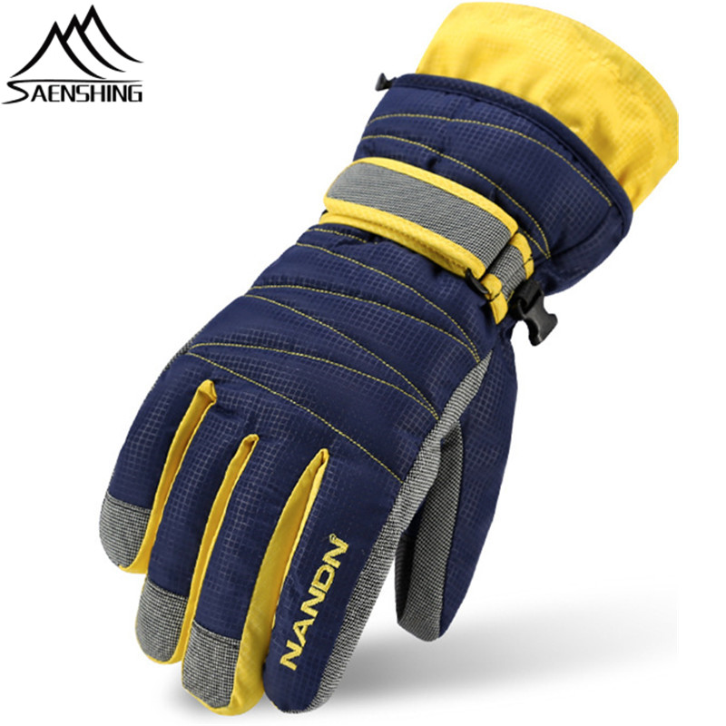 Saenshing Winter Ski Gloves Waterproof Ski Glove Snowboard Snow Gloves Men Women Childrens Breathable Thermal Skiing Glove