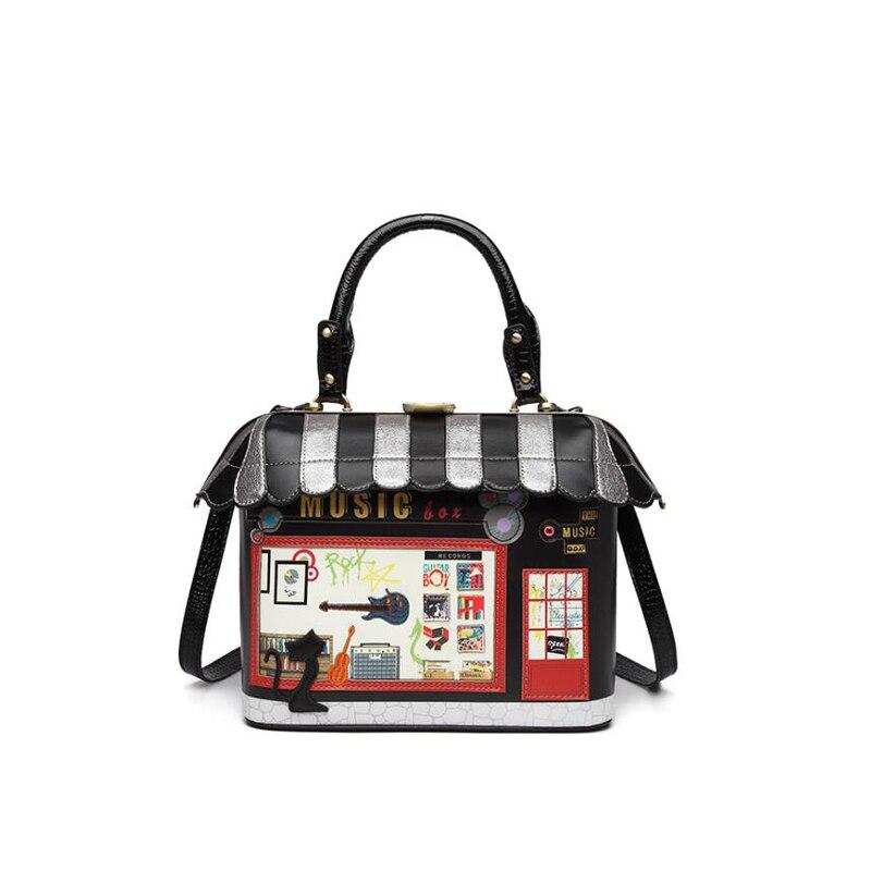 Fun House Shaped Handbag women Unique 3D Cartoon Handmade Messenger Shoulder Bag PU leather Crossbody Bags
