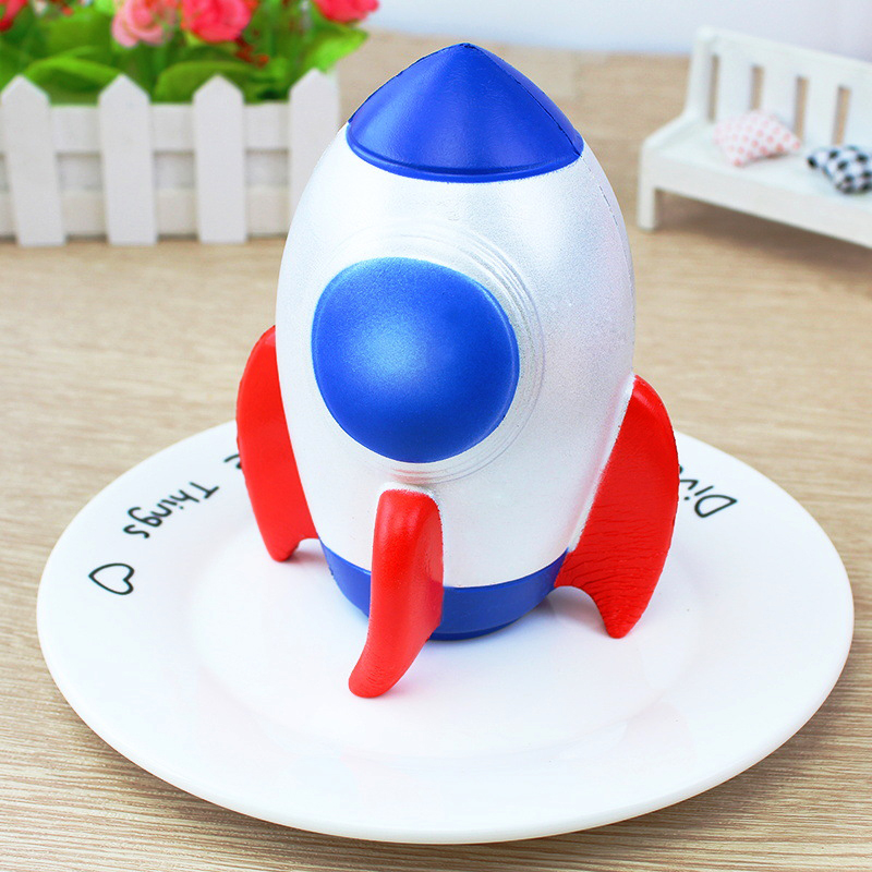 15CM Jumbo Squishy Toys Rocket Slow Rising Cream Scented Antistress Toy Children Kawaii Novelty Squish Stress Reliever Toy