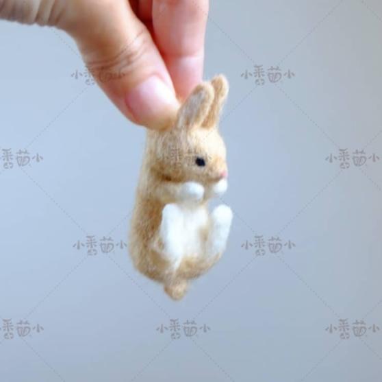 Woollen Felt Jab, Animal Hedgehog, Cat, Panda, Rabbit Seal Yucococafe.  Wool Felt Needle Felting Decoration Craft Needlecraft
