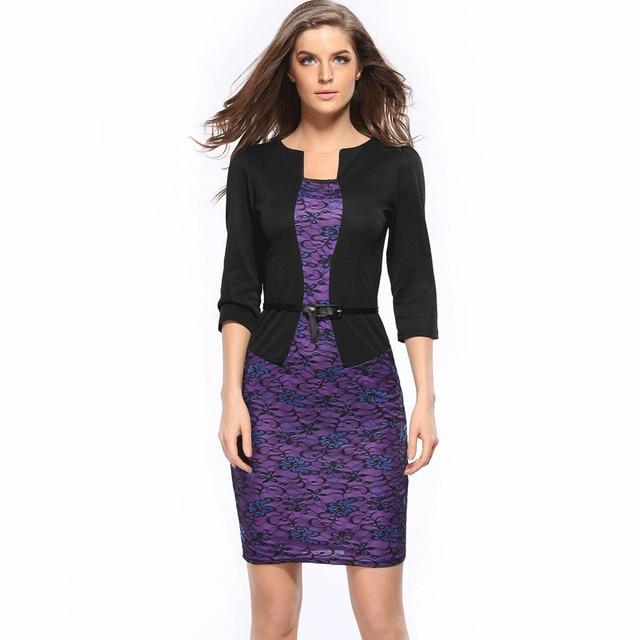 Hot Fashion Sexy Office Lady Pencil Dresses Women Business Attire