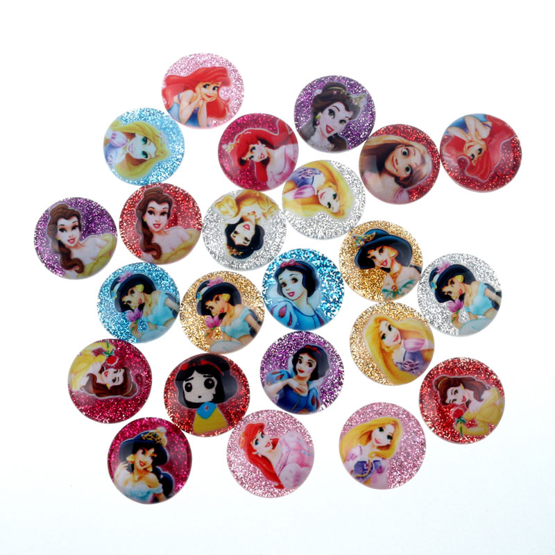 50Pcs Mixed Round Glitter Resin Mary Yan Cabochon Flatback Decoration Crafts Embellishments For Scrapbooking Diy Accessories