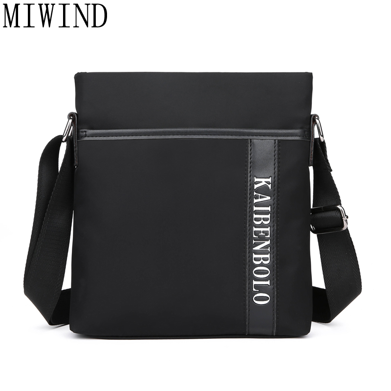 MIWIND Brand Men Business Messenger Bag Famous Waterproof Oxford Casual Cross Body Bags Mens Simple Shoulder Bags for IPADTBB072 new 2017 sping waterproof male casual oxford fabric commercial messenger bags high quality brand design cross body bags for men