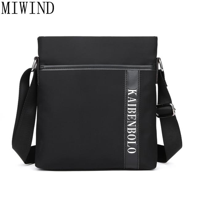 b128c02477f1 MIWIND Brand Men Business Messenger Bag Famous Waterproof Oxford Casual Cross  Body Bags Mens Simple Shoulder