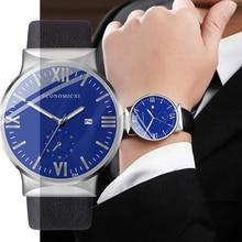 Mens Watch Luminous ECONOMICXI Brand Quartz Casual Business Male Leather Strap WristWatch Clock Relogio Masculino Fashion Gift