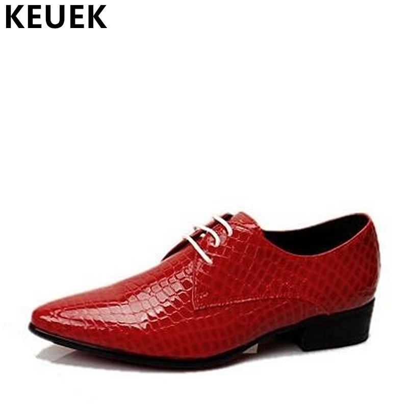 British Style Men Casual Shoes Genuine Leather Vintage Fashion Lace up Brogue Shoes Oxfords Flats Male Dress shoes 03A