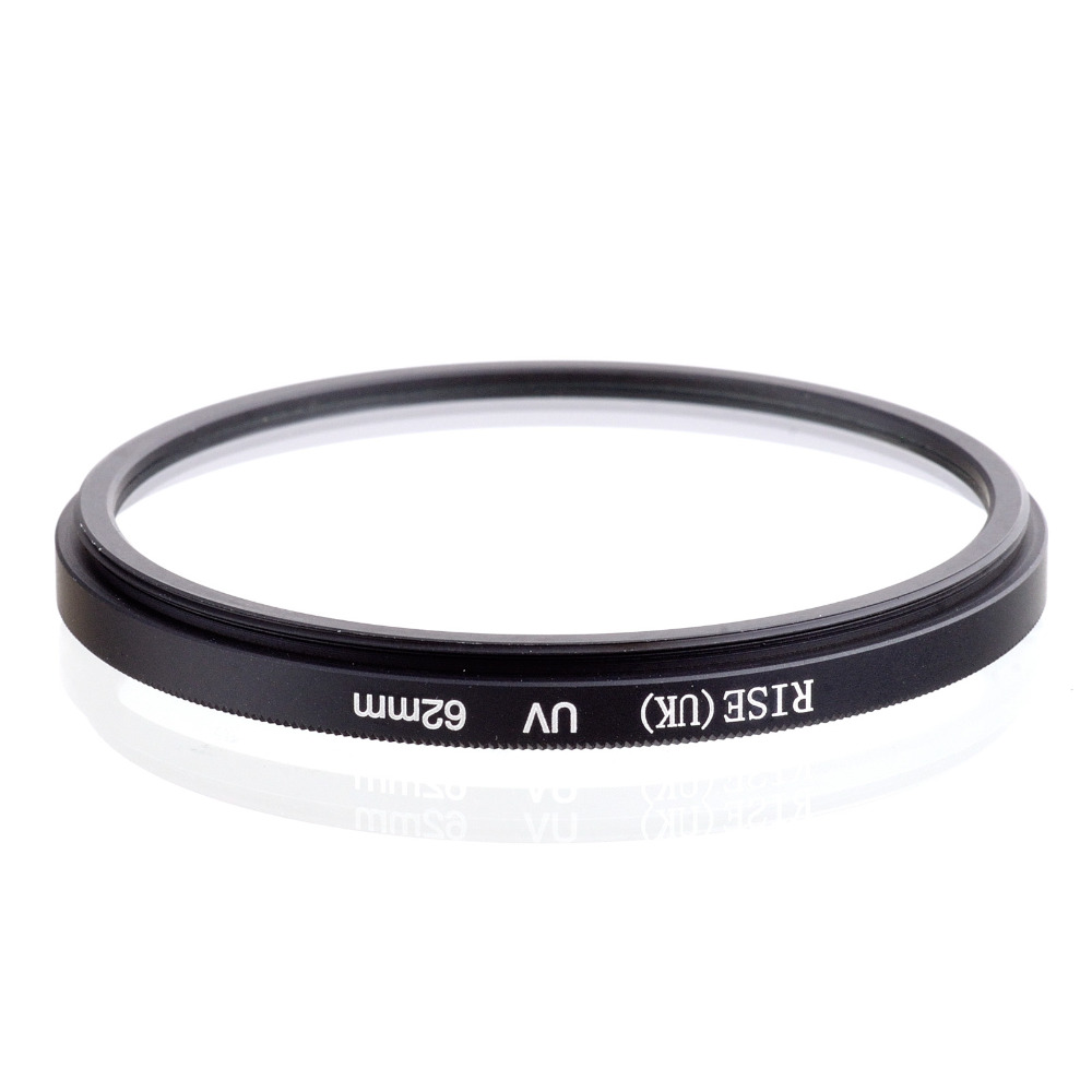 wholesale 10 pcs RISE(UK) 62MM UV Ultra-Violet Filter Lens Protector for DLSR camera 62mm lens free shipping