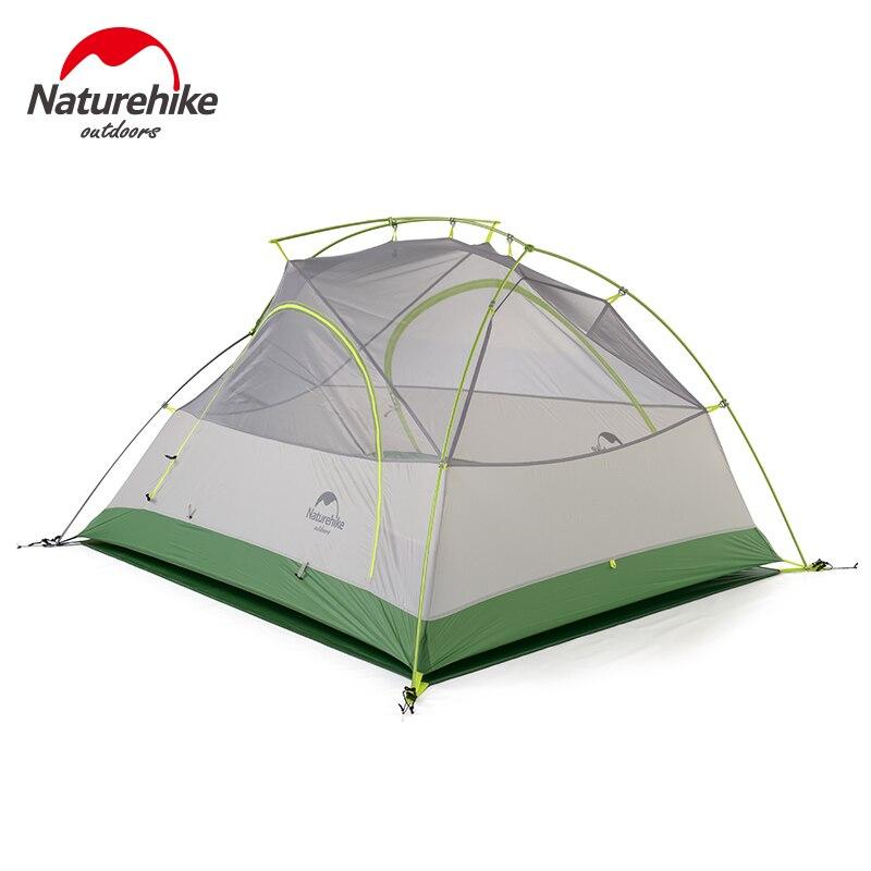 Nature randonnée 2 personnes Camping tente ultralégère 20D Silicone tissu Double couche extérieur sac à dos randonnée 2 hommes tentes