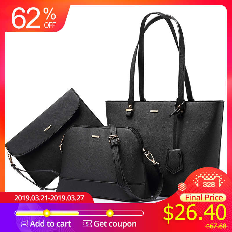 6dfae37c5d6 Detail Feedback Questions about LOVEVOOK handbag women shoulder bags  designer crossbody bag female large tote 3 set bag big luxury small purse  and handbag ...