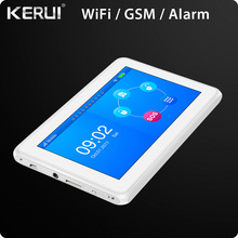 K7 WIFI GSM Alarm System 7 Inch TFT Color Display Touch Screen Home Alarm System Security with PIR Motion Detector