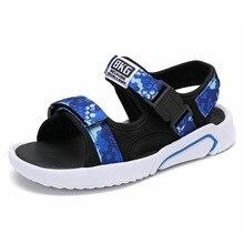 Boys sandals 2019 summer new childrens shoes male Korean version of the non-slip student big boy beach