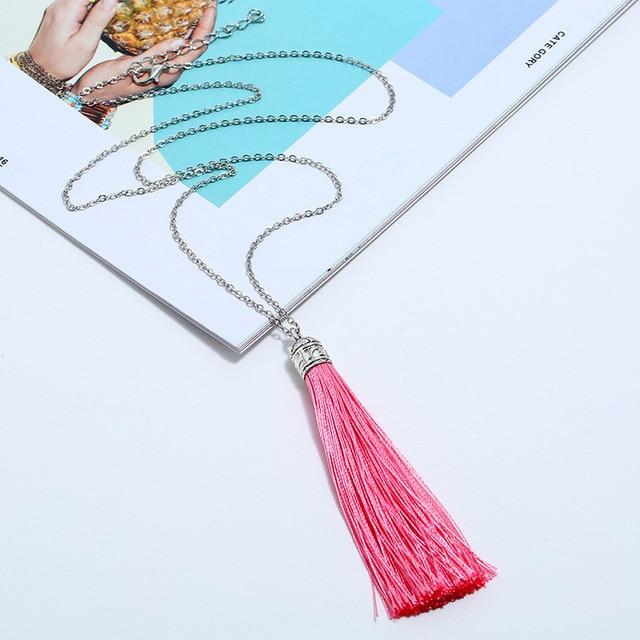 Женское Ожерелье с кисточками lzhlq этническое винтажное массивное