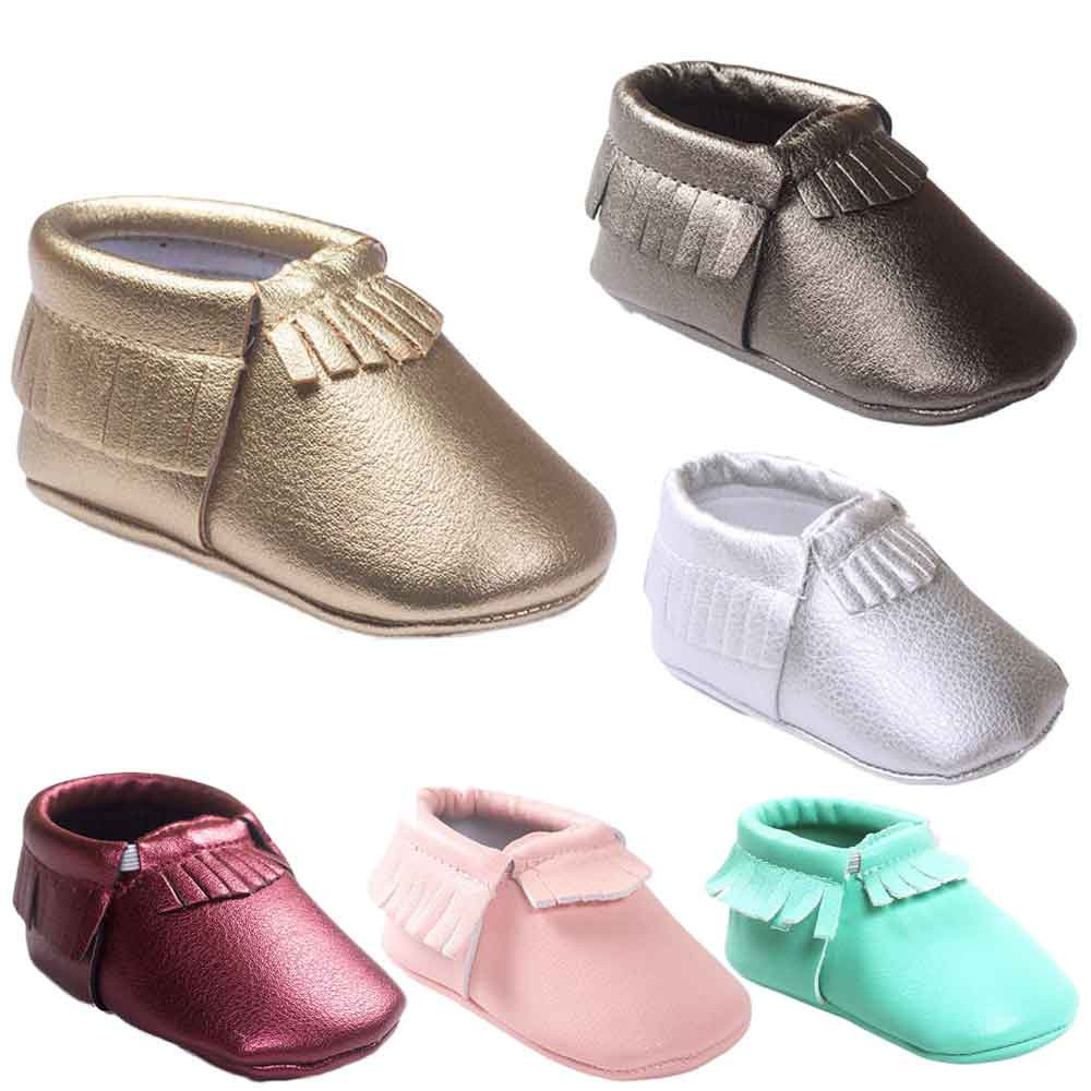 New 2020 Baby Girl Leater Tassels Shoes Toddler Soft Sole Sneakers Casual Shoes Baby Apparel Accessories Set