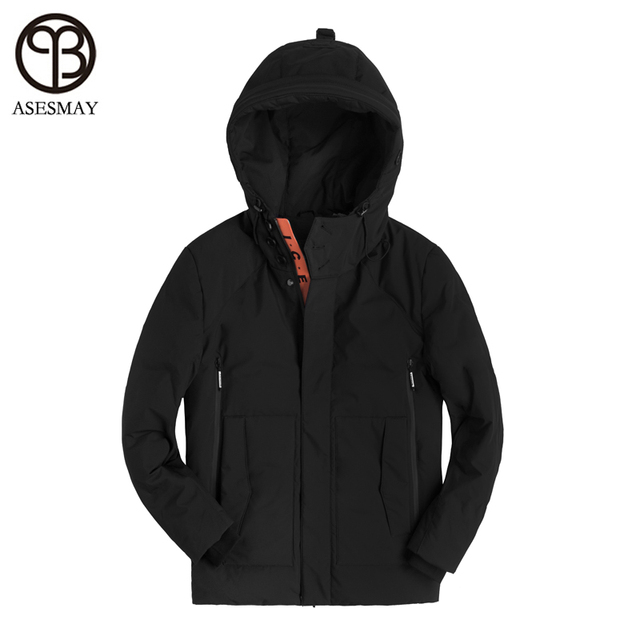 Asesmay 2018 Brand Men Winter Jacket Thick Warm Clothing 90% White Duck Down Men Down Jacket Goose Feather Parka Russian Coats