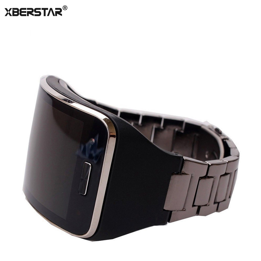 Replacement Bracelet Band Strap for Samsung Galaxy Gear S SM-R750 Smartwatch Band Stainless Steel+TPU Case Unisex Bracelet