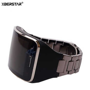 Replacement Bracelet Band Strap for Samsung Galaxy Gear S SM-R750 Smartwatch Band Stainless Steel+TPU Case Unisex Bracelet - DISCOUNT ITEM  15% OFF All Category
