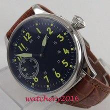 цена Luxury top brand Black Mechanical Watch men 17 Jewels Seagull 6497 Hand Winding Mechanical Watches luminous Men wristwatches онлайн в 2017 году