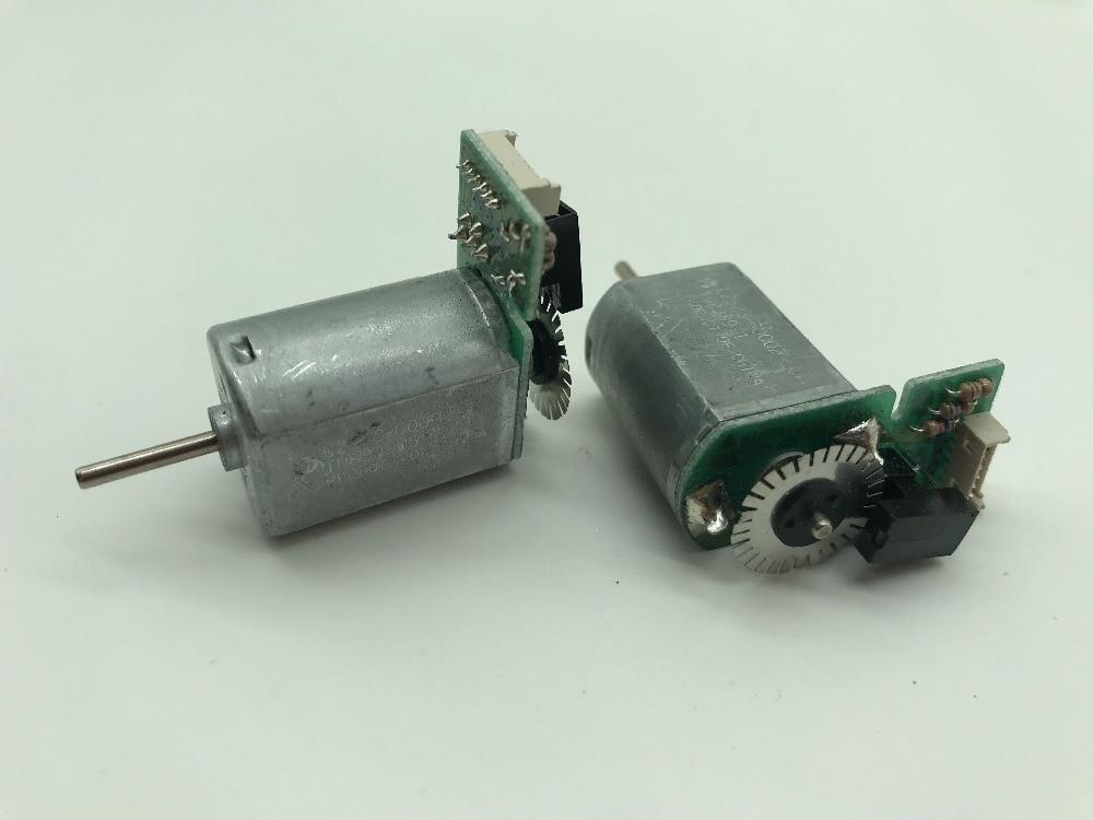 130 Motor DC 6V-12V 7800RPM Metal Speed Encoder Tachometer Motor AB Phase 49mm Length For DIY Tools