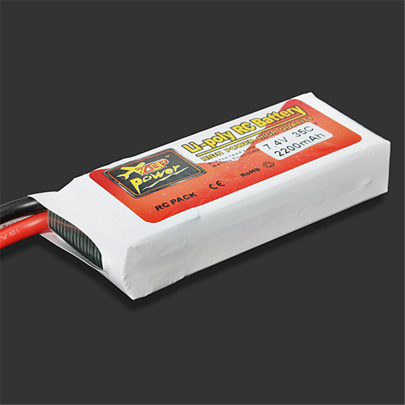 New ZOP Power 7.4V <font><b>2200mAh</b></font> 35C <font><b>2S</b></font> 2S1P <font><b>Lipo</b></font> Battery T Plug Rechargeable For RC Racing Drone Helicopter Multicopter Car Model image