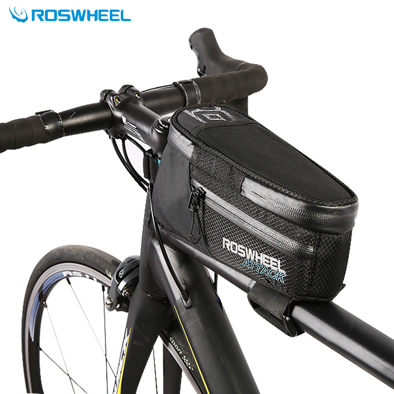 Roswheel 2017 Nylon Vélo Sac Top Tube Avant Sac à Armature Pour Vélo Imperméable Vélo Rack Sac Accessoires Vélo Sac Pannier