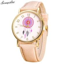 Vogue Girls Watches Dreamcatcher Sample Leather-based Band Analog Quartz Vogue Wrist Watches wholesale